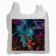 Feather Fractal Artistic Design Recycle Bag (two Side)
