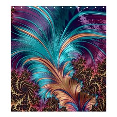 Feather Fractal Artistic Design Shower Curtain 66  X 72  (large)  by BangZart