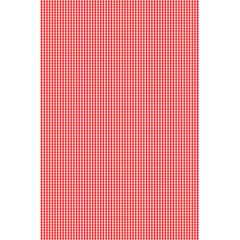 Christmas Red Velvet Mini Gingham Check Plaid 5 5  X 8 5  Notebooks by PodArtist