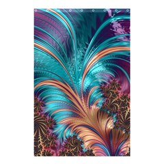 Feather Fractal Artistic Design Shower Curtain 48  X 72  (small)  by BangZart