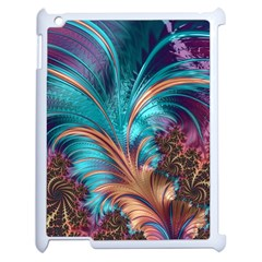 Feather Fractal Artistic Design Apple Ipad 2 Case (white)