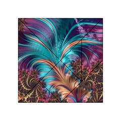 Feather Fractal Artistic Design Acrylic Tangram Puzzle (4  X 4 )