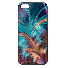 Feather Fractal Artistic Design Apple Iphone 5 Seamless Case (black) by BangZart