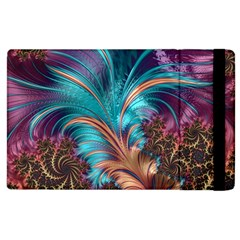 Feather Fractal Artistic Design Apple Ipad 2 Flip Case by BangZart