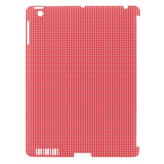 Christmas Red Velvet Mini Gingham Check Plaid Apple Ipad 3/4 Hardshell Case (compatible With Smart Cover) by PodArtist