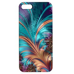 Feather Fractal Artistic Design Apple Iphone 5 Hardshell Case With Stand by BangZart