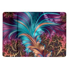 Feather Fractal Artistic Design Samsung Galaxy Tab 10 1  P7500 Flip Case by BangZart