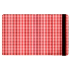 Christmas Red Velvet Mini Gingham Check Plaid Apple Ipad 3/4 Flip Case by PodArtist