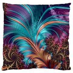Feather Fractal Artistic Design Standard Flano Cushion Case (two Sides) by BangZart