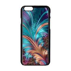 Feather Fractal Artistic Design Apple Iphone 6/6s Black Enamel Case by BangZart