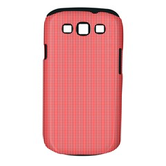Christmas Red Velvet Mini Gingham Check Plaid Samsung Galaxy S Iii Classic Hardshell Case (pc+silicone) by PodArtist
