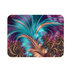 Feather Fractal Artistic Design Double Sided Flano Blanket (mini)