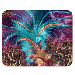 Feather Fractal Artistic Design Double Sided Flano Blanket (medium)  by BangZart