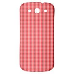 Christmas Red Velvet Mini Gingham Check Plaid Samsung Galaxy S3 S Iii Classic Hardshell Back Case by PodArtist