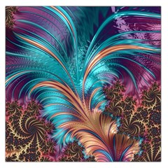 Feather Fractal Artistic Design Large Satin Scarf (square) by BangZart