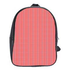 Christmas Red Velvet Mini Gingham Check Plaid School Bags (xl)  by PodArtist