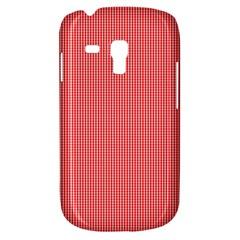 Christmas Red Velvet Mini Gingham Check Plaid Galaxy S3 Mini by PodArtist