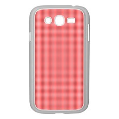 Christmas Red Velvet Mini Gingham Check Plaid Samsung Galaxy Grand Duos I9082 Case (white) by PodArtist
