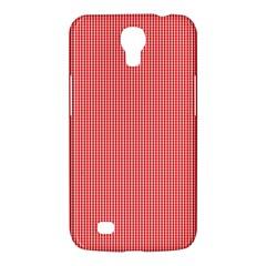 Christmas Red Velvet Mini Gingham Check Plaid Samsung Galaxy Mega 6 3  I9200 Hardshell Case by PodArtist