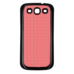 Christmas Red Velvet Mini Gingham Check Plaid Samsung Galaxy S3 Back Case (black) by PodArtist
