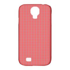 Christmas Red Velvet Mini Gingham Check Plaid Samsung Galaxy S4 Classic Hardshell Case (pc+silicone) by PodArtist