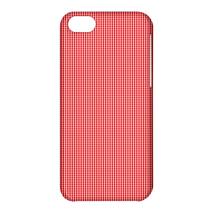 Christmas Red Velvet Mini Gingham Check Plaid Apple iPhone 5C Hardshell Case