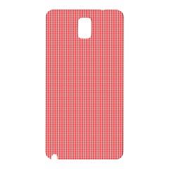 Christmas Red Velvet Mini Gingham Check Plaid Samsung Galaxy Note 3 N9005 Hardshell Back Case by PodArtist