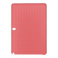 Christmas Red Velvet Mini Gingham Check Plaid Samsung Galaxy Tab Pro 12 2 Hardshell Case by PodArtist