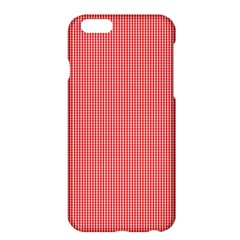 Christmas Red Velvet Mini Gingham Check Plaid Apple Iphone 6 Plus/6s Plus Hardshell Case by PodArtist