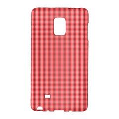 Christmas Red Velvet Mini Gingham Check Plaid Galaxy Note Edge by PodArtist