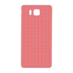 Christmas Red Velvet Mini Gingham Check Plaid Samsung Galaxy Alpha Hardshell Back Case by PodArtist