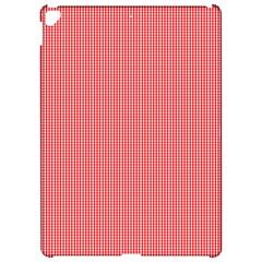 Christmas Red Velvet Mini Gingham Check Plaid Apple Ipad Pro 12 9   Hardshell Case by PodArtist