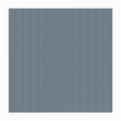 Silent Night Blue Mini Gingham Check Plaid Medium Glasses Cloth (2 Side) by PodArtist