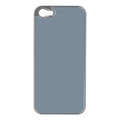 Silent Night Blue Mini Gingham Check Plaid Apple Iphone 5 Case (silver) by PodArtist