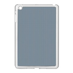 Silent Night Blue Mini Gingham Check Plaid Apple Ipad Mini Case (white) by PodArtist