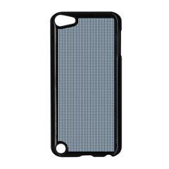 Silent Night Blue Mini Gingham Check Plaid Apple Ipod Touch 5 Case (black) by PodArtist