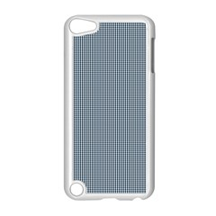 Silent Night Blue Mini Gingham Check Plaid Apple Ipod Touch 5 Case (white) by PodArtist