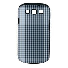 Silent Night Blue Mini Gingham Check Plaid Samsung Galaxy S Iii Classic Hardshell Case (pc+silicone) by PodArtist