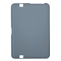 Silent Night Blue Mini Gingham Check Plaid Kindle Fire Hd 8 9  by PodArtist