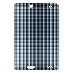 Silent Night Blue Mini Gingham Check Plaid Amazon Kindle Fire Hd (2013) Hardshell Case by PodArtist