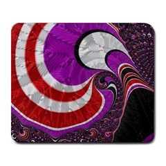 Fractal Art Red Design Pattern Large Mousepads by BangZart
