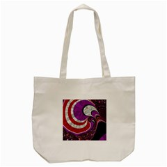 Fractal Art Red Design Pattern Tote Bag (cream) by BangZart