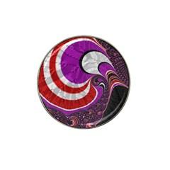 Fractal Art Red Design Pattern Hat Clip Ball Marker