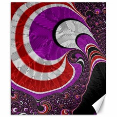 Fractal Art Red Design Pattern Canvas 20  X 24   by BangZart