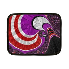 Fractal Art Red Design Pattern Netbook Case (small)  by BangZart
