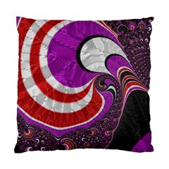 Fractal Art Red Design Pattern Standard Cushion Case (two Sides) by BangZart