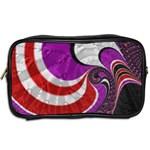 Fractal Art Red Design Pattern Toiletries Bags 2-Side Back