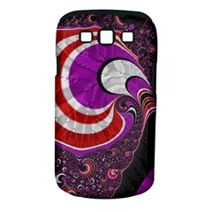 Fractal Art Red Design Pattern Samsung Galaxy S Iii Classic Hardshell Case (pc+silicone)