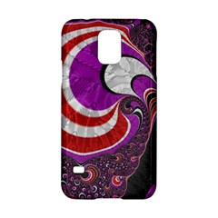 Fractal Art Red Design Pattern Samsung Galaxy S5 Hardshell Case  by BangZart