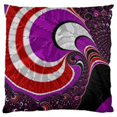 Fractal Art Red Design Pattern Standard Flano Cushion Case (two Sides) by BangZart